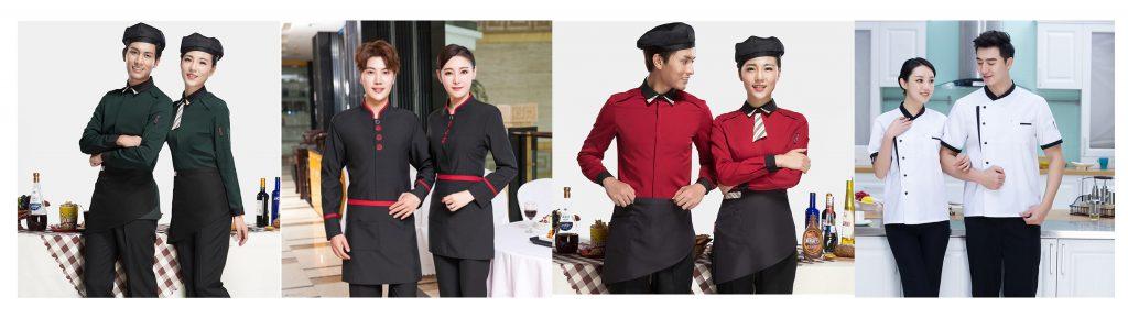 Đa dạng trong thiết kế, màu sắc trang phục nhà hàng, khách sạn,..