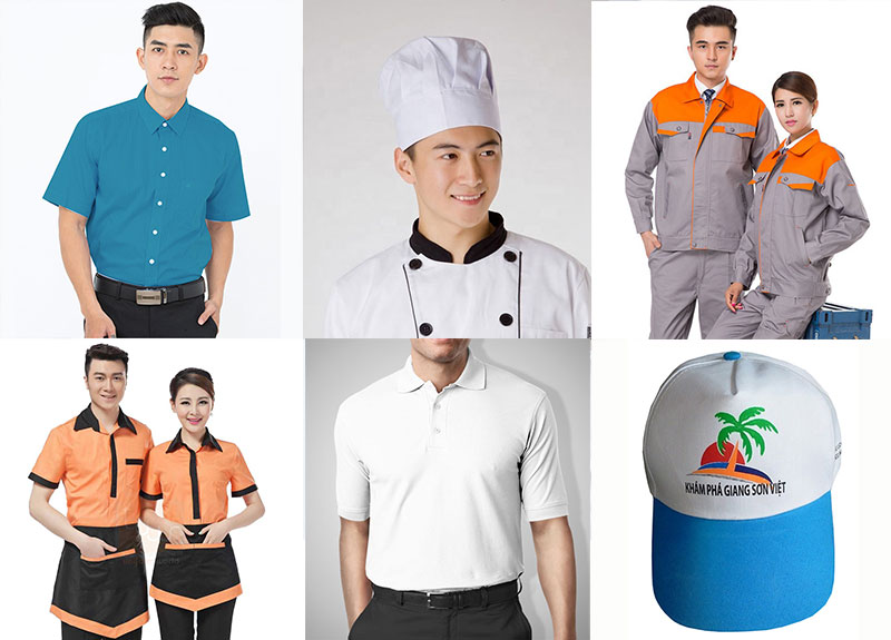 Nhiều sản phẩm may mà đồng phục Thành Công cung cấp tại TP.HCM