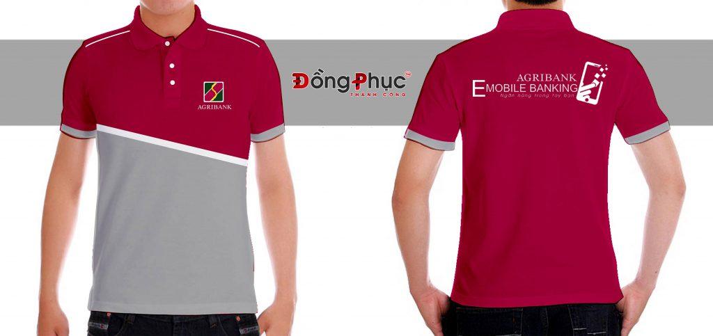 Áo thun đồng phục thêu, in logo cho doanh nghiệp